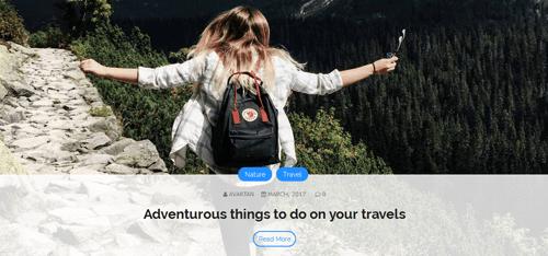 Travel Post Slider