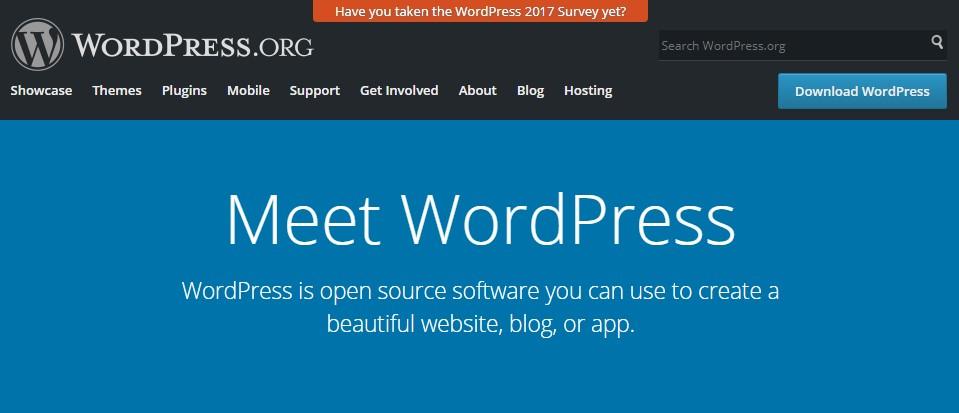 wordpress is open source