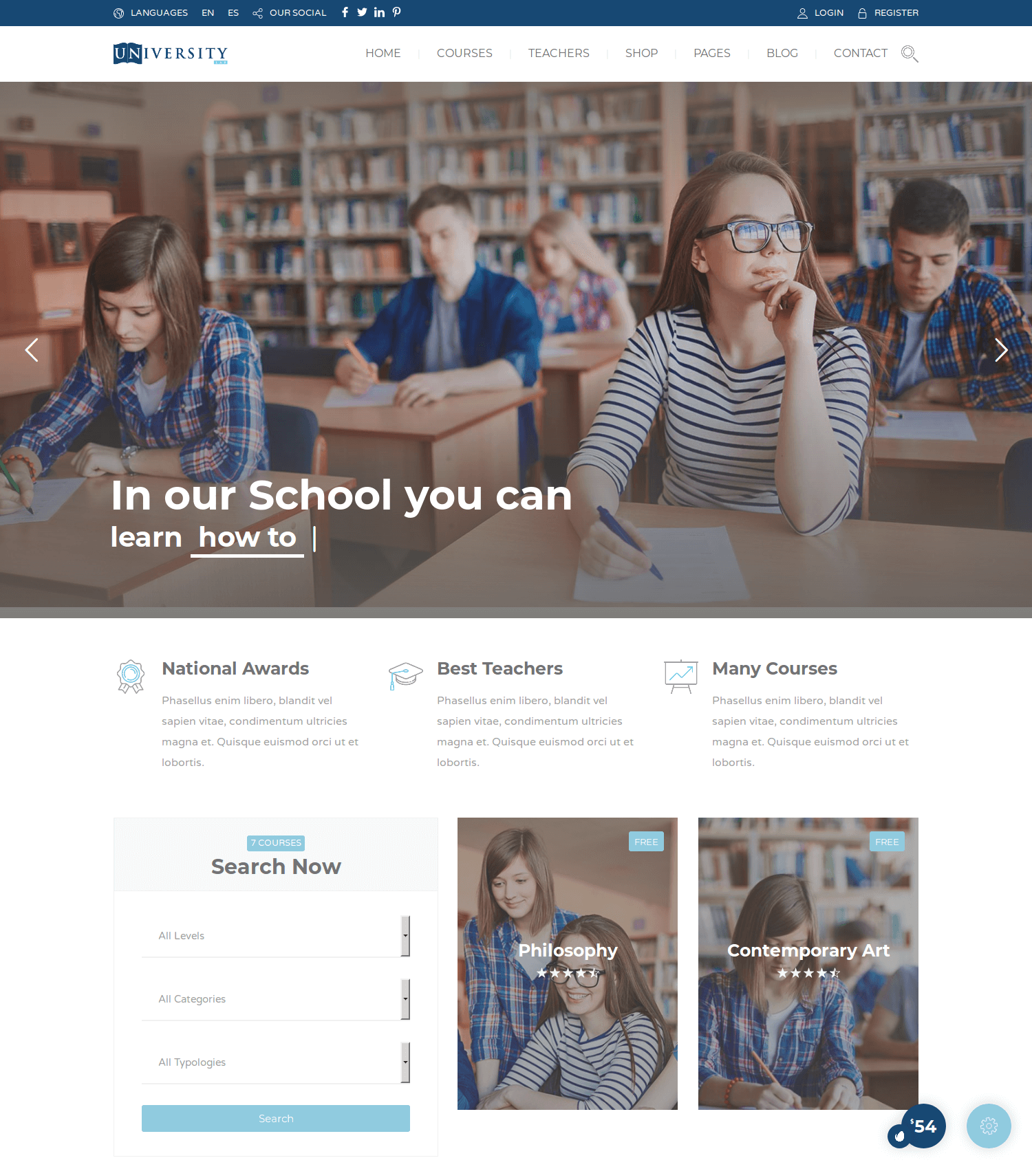 Education Pack WordPress Theme