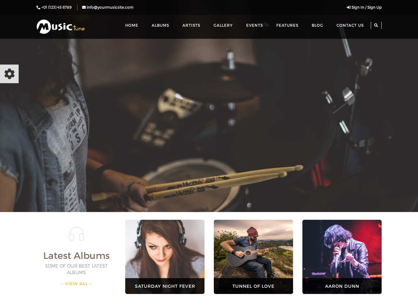 Musictune WordPress Theme