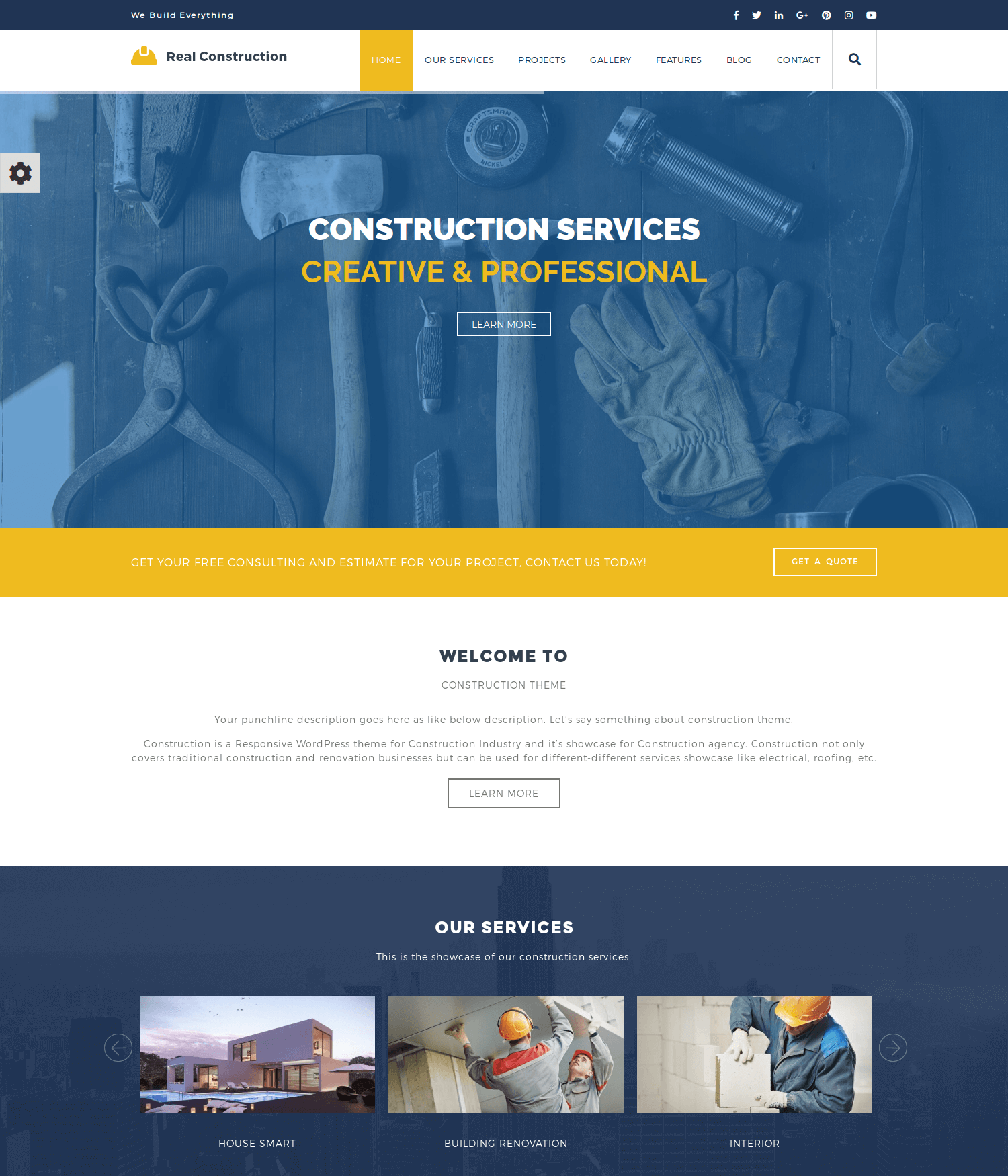 Real Construction WordPress Theme